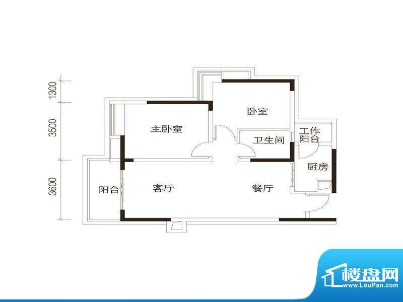 中海誉城A2栋05单位面积:85.00平米