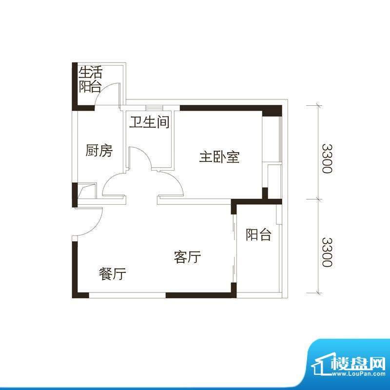 中海誉城A9栋05单位面积:55.00平米