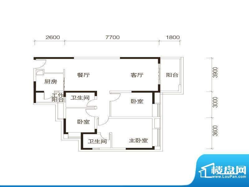 中海誉城A2栋02单位面积:115.00平米