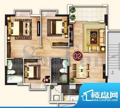 东港花园A4-02 2室2面积:97.34平米