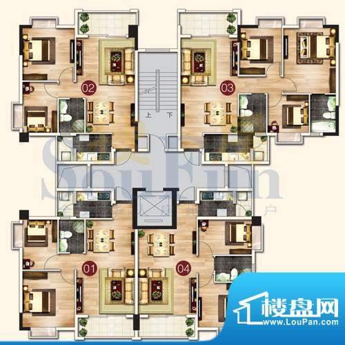 东港花园户型图A6平面积:0.00平米