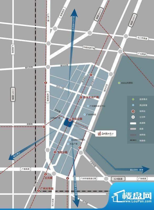 白云绿地中心交通图
