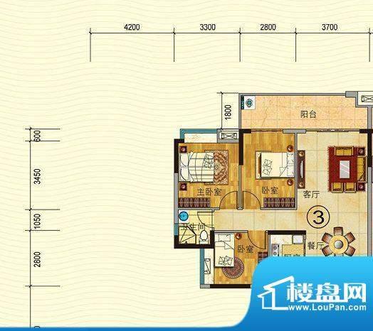 珠光御景山水城4/5栋面积:90.00平米