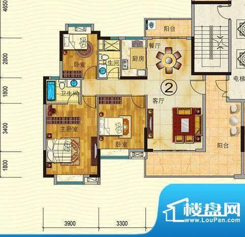 珠光御景山水城4/5栋面积:123.00平米