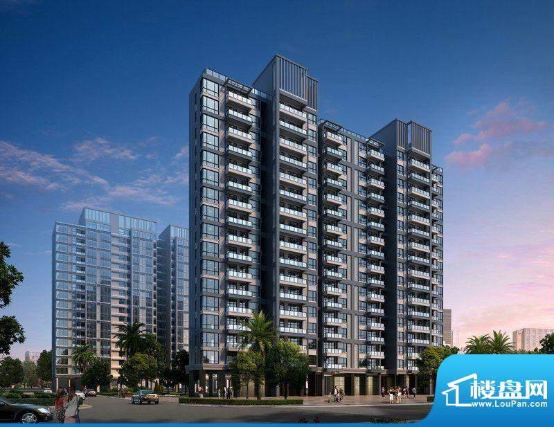 南沙城住宅A、B栋南立面外景图(2012-0