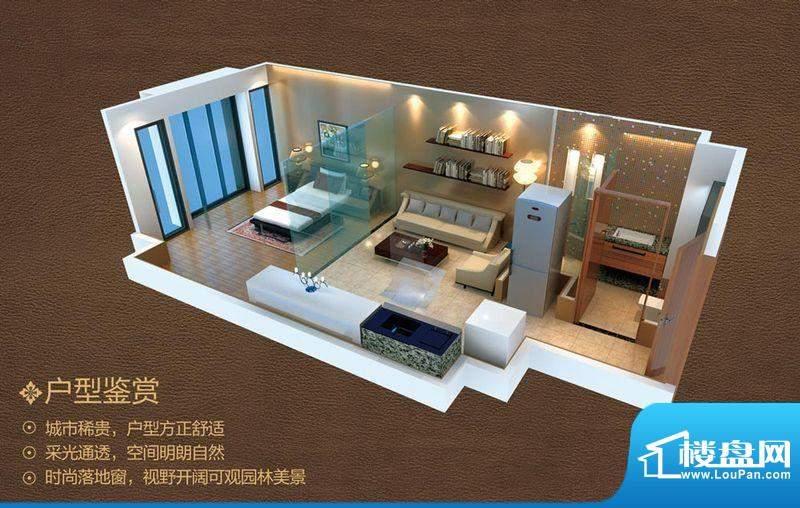 佛奥广场户型22 1室面积:54.00平米