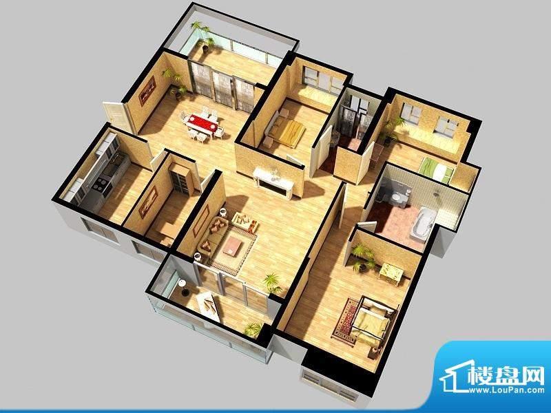 万象城g2户型 4室2厅面积:170.00平米