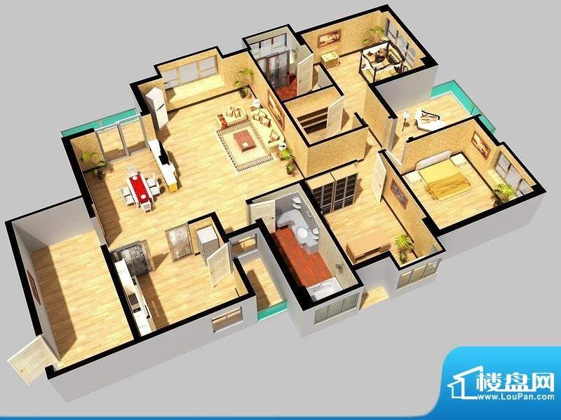 万象城g3户型 3室2厅面积:180.00平米