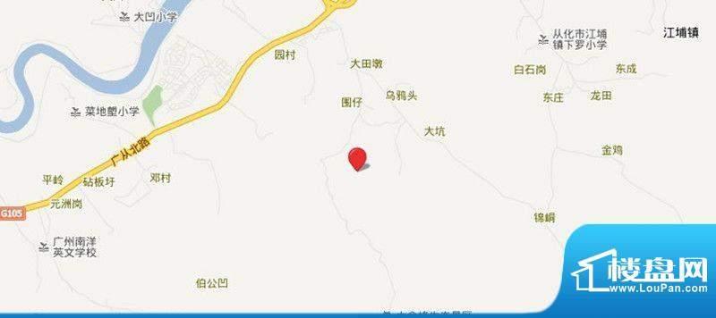 雅居乐小院流溪交通图