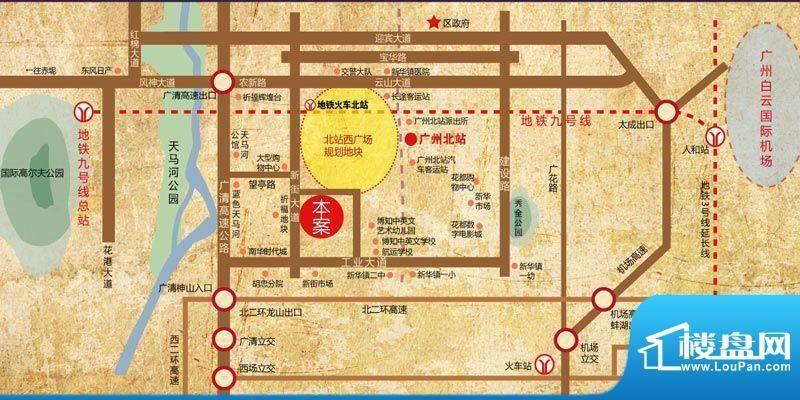 西广场12号交通图