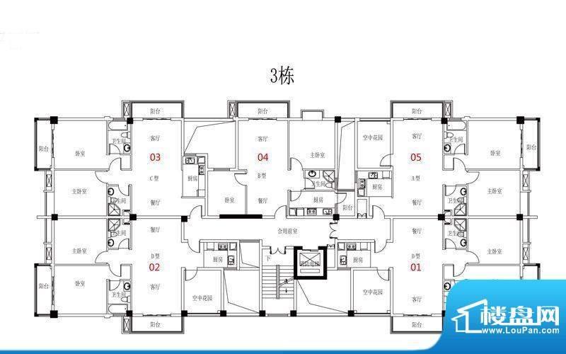 西广场12号3栋三-九面积:0.00平米