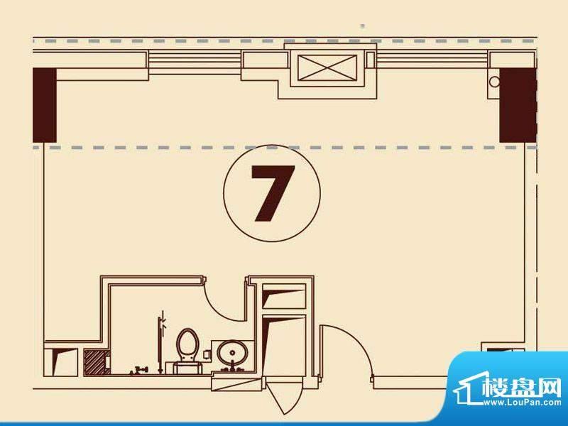 贵贤上品21层至35层面积:66.68平米