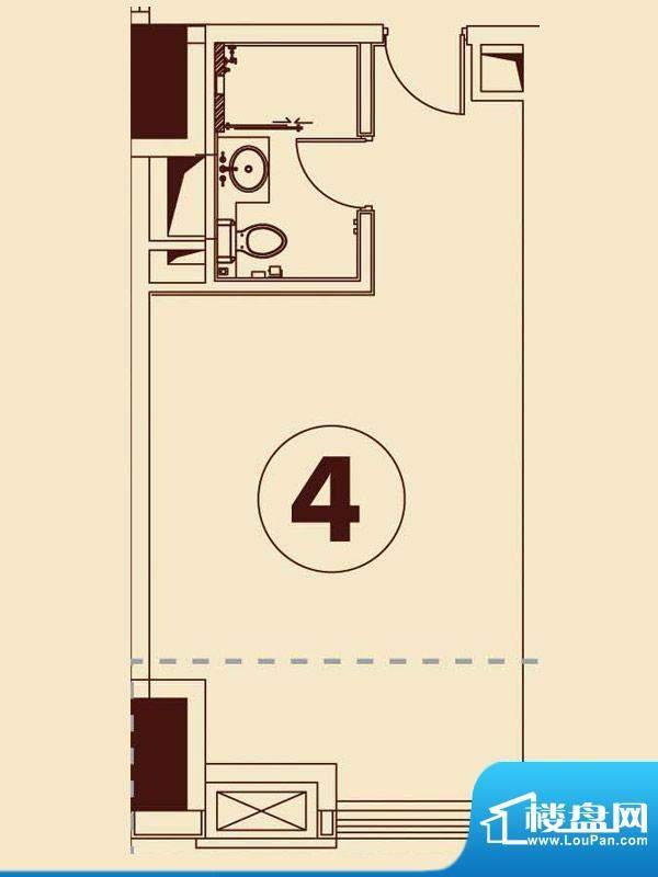 贵贤上品21层至35层面积:58.46平米