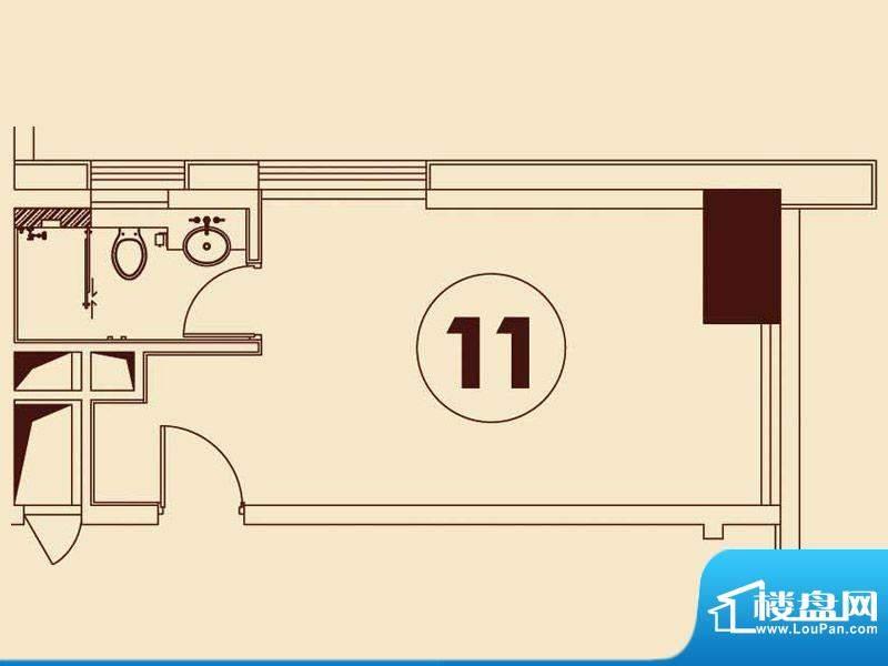 贵贤上品8至19层11单面积:42.15平米
