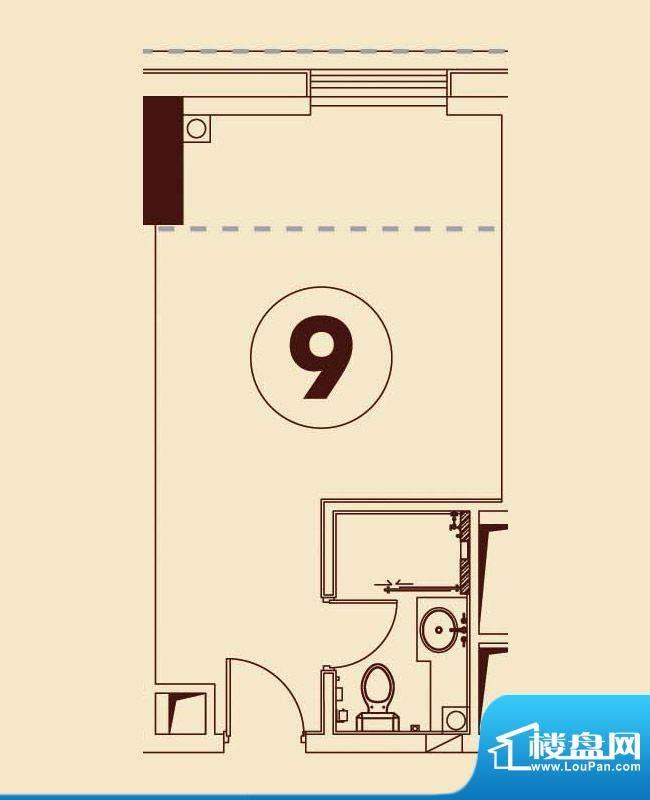 贵贤上品8至19层09单面积:44.38平米
