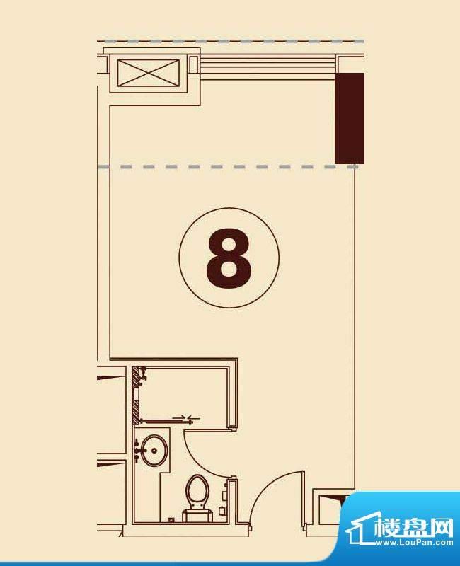 贵贤上品8至19层08单面积:44.03平米
