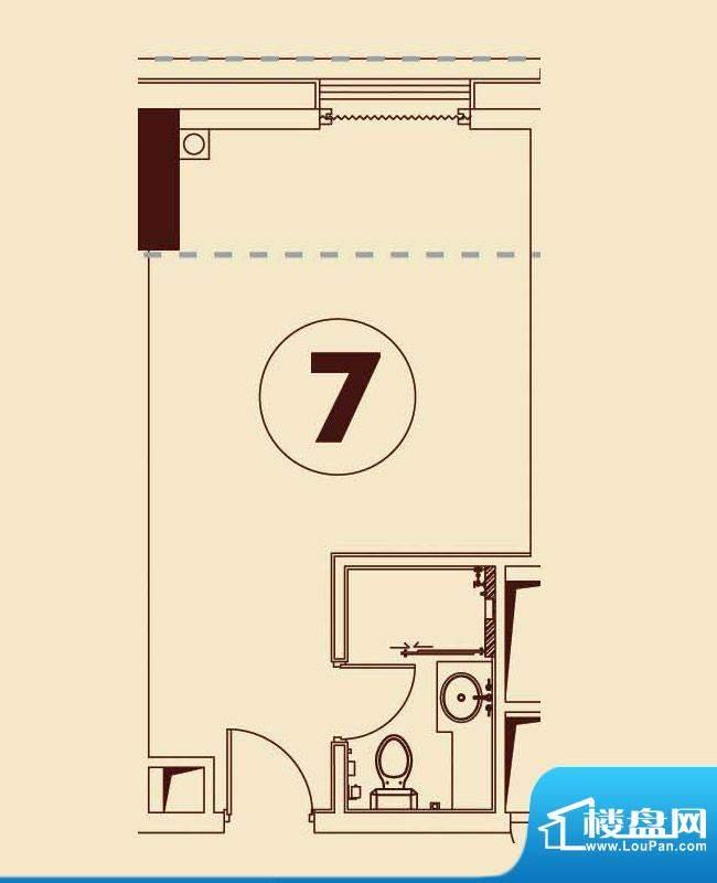 贵贤上品8至19层07单面积:44.38平米