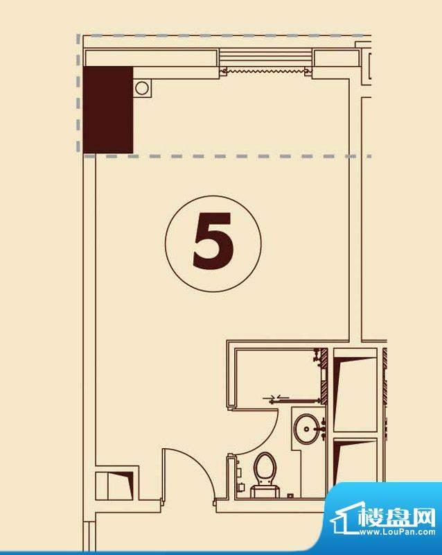 贵贤上品8至19层05单面积:47.77平米
