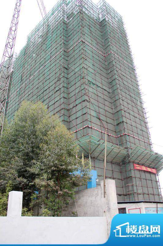 惠百氏广场14栋施工外立面(2011.3)
