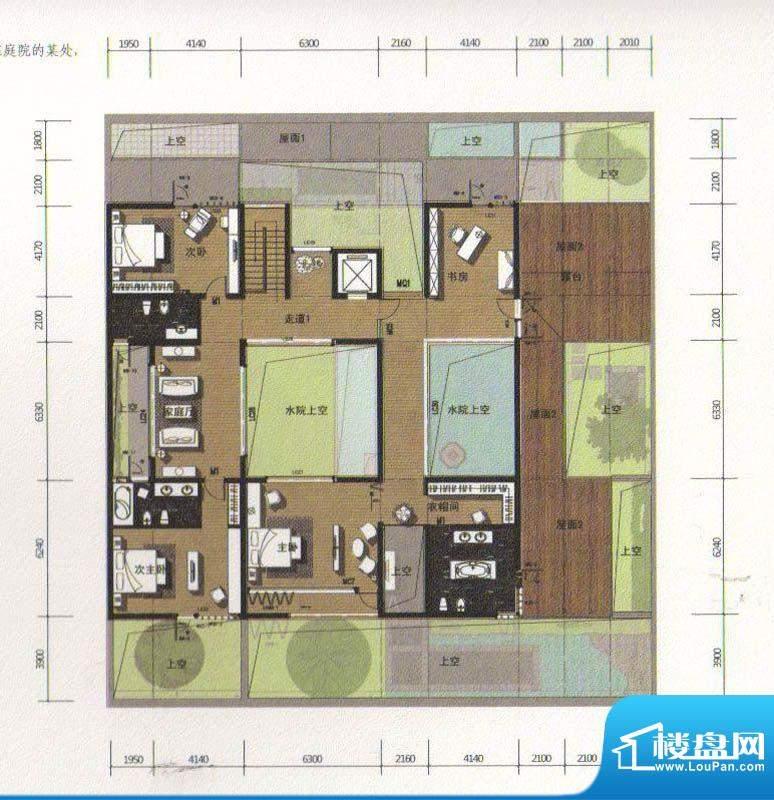 合院D户型大平层别墅标准户型图-合肥楼盘网