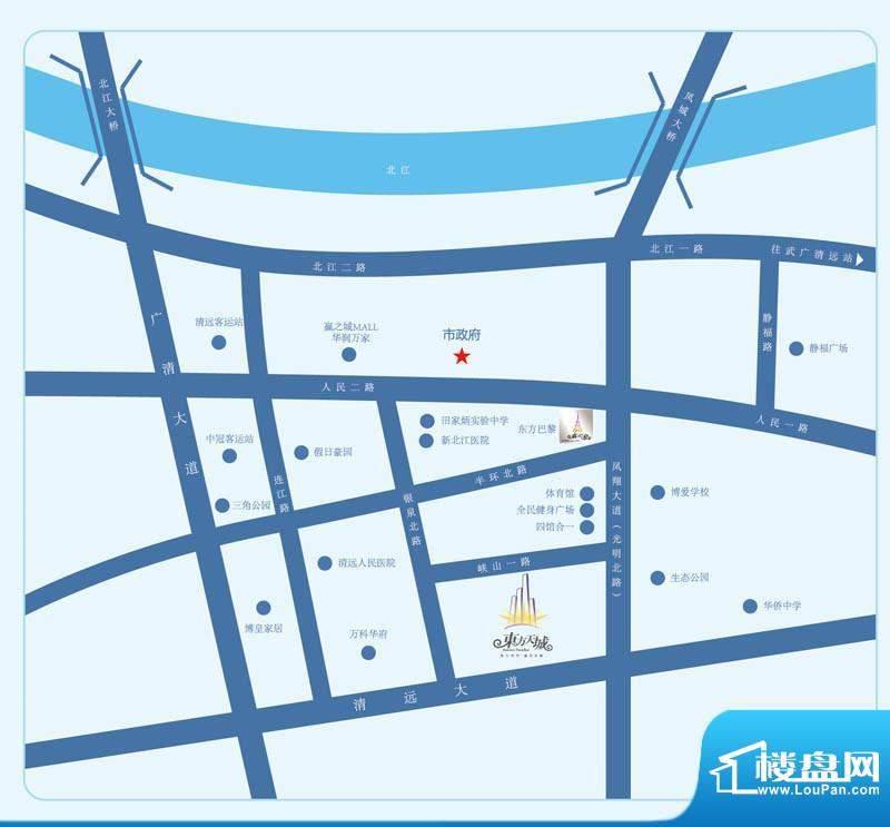 东方天城交通图