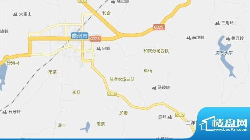 蓝洋温泉大河花园交通图