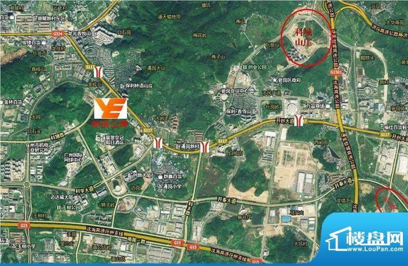 越秀·岭南山畔交通图