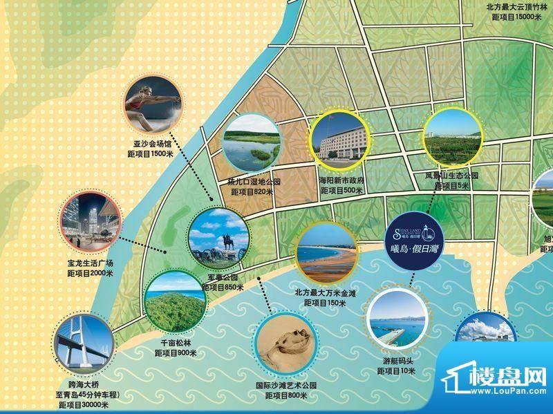 曦岛假日湾交通图
