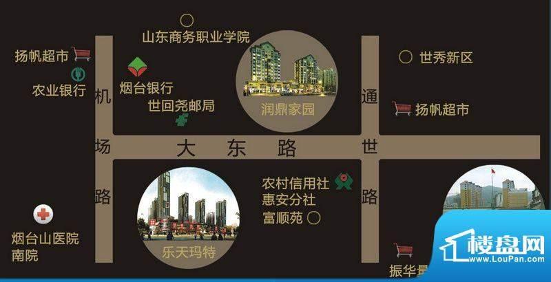 润鼎家园交通图