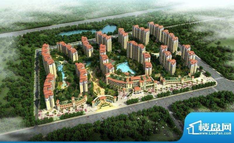 昌茂中润温泉水城项目鸟瞰图