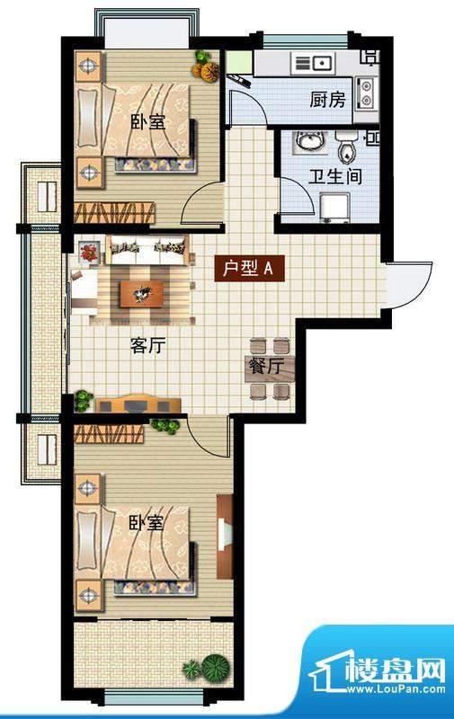 润鼎家园3#楼A户型图面积:91.97平米