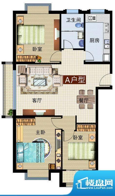 润鼎家园4#楼A户型图面积:131.23平米
