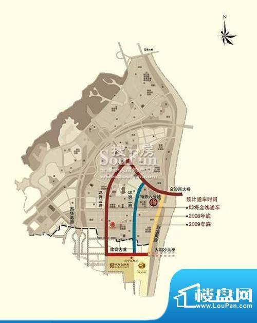 中海金沙熙岸交通图