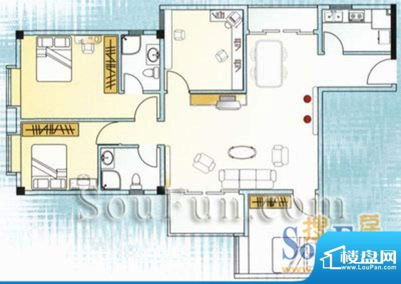 云山锦绣家园二期4室面积:0.00平米