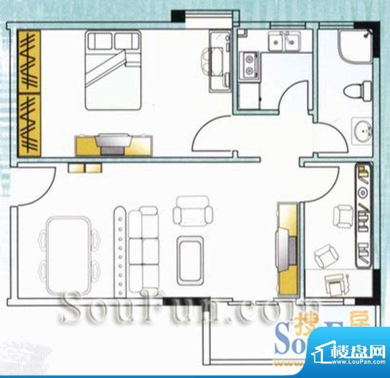 云山锦绣家园二期2室面积:0.00平米