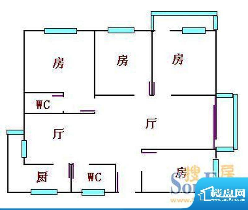 云山锦绣家园二期15面积:155.00平米