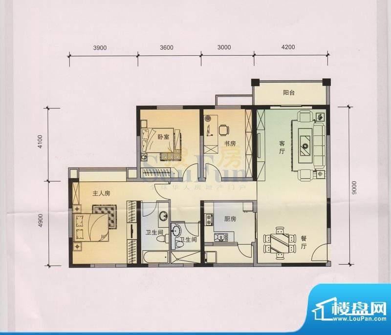 锦林山庄B6 4、5栋 面积:136.76平米