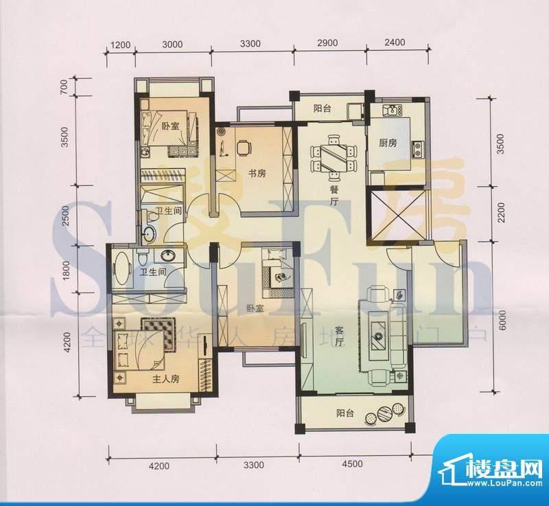 锦林山庄B7 1、2栋 面积:154.80平米