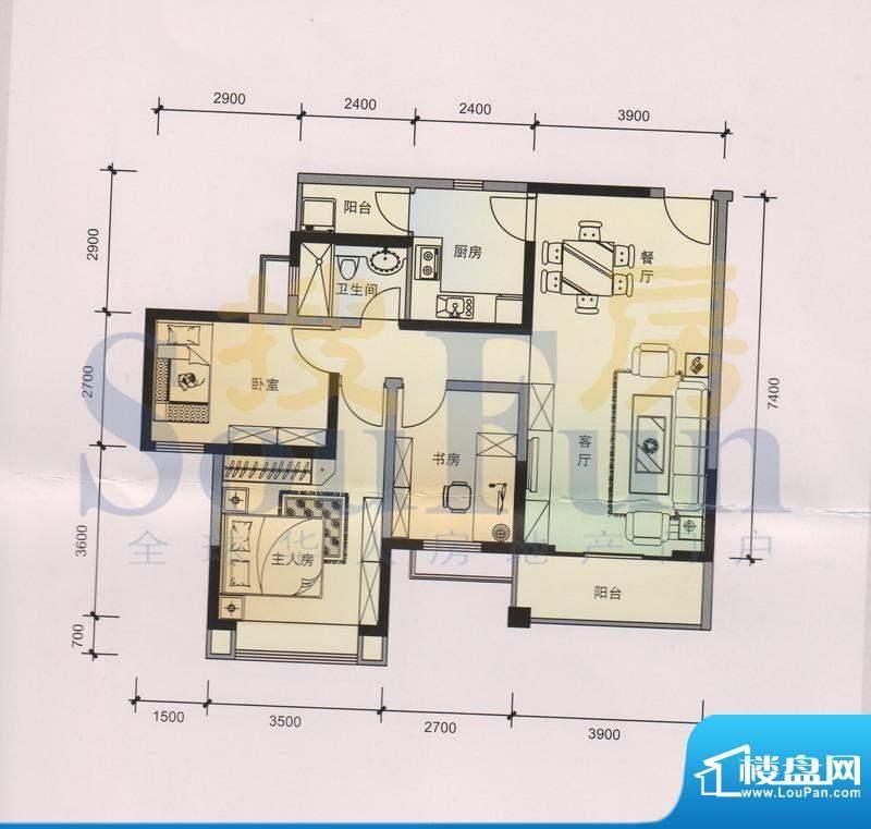 锦林山庄B6 4、5栋 面积:95.85平米