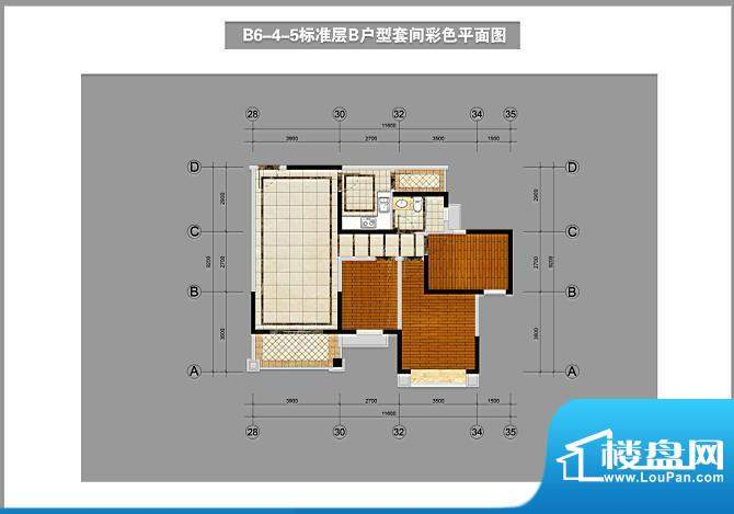锦林山庄B6-4-5标准面积:96.00平米