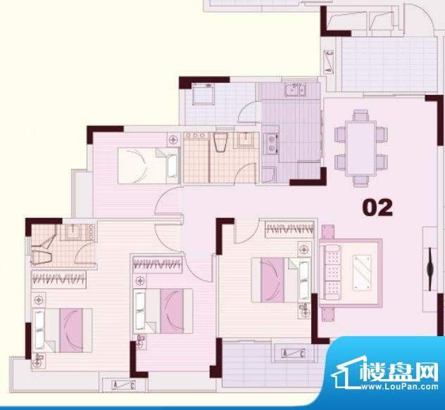 东凌广场C1栋02户型面积:120.00平米