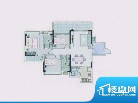 东凌广场A4栋03户型面积:73.00平米