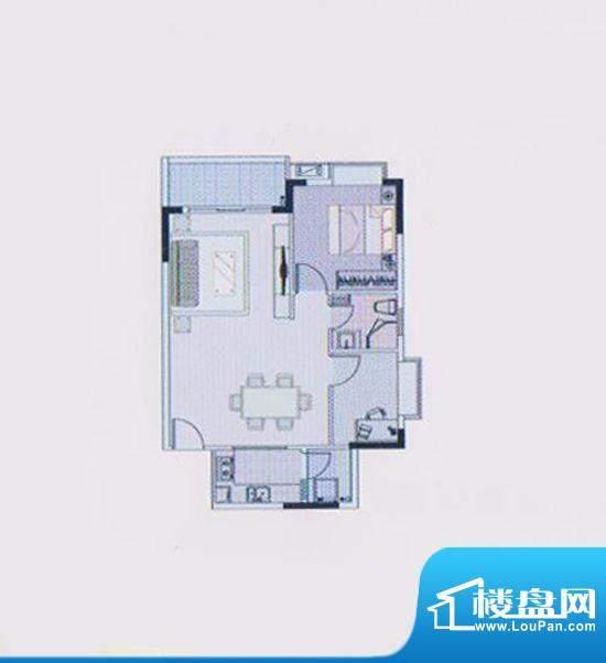 东凌广场B1栋04户型面积:94.00平米