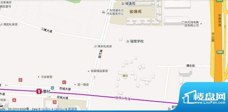 潭村改造项目交通图