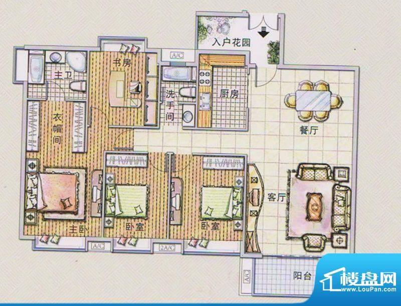潭村改造项目I户型 面积:174.30平米