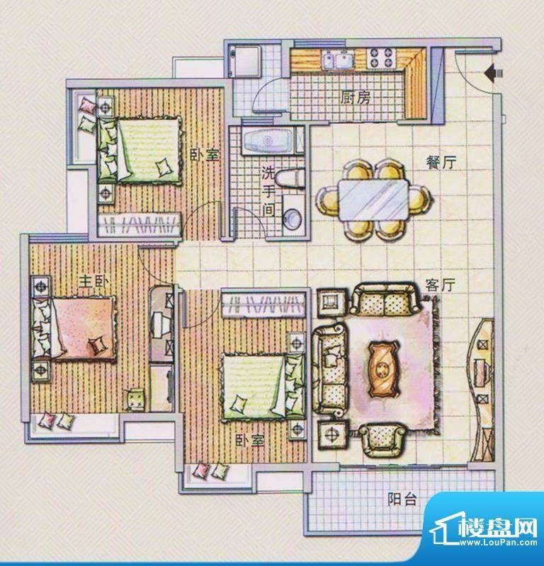 潭村改造项目G户型 面积:118.90平米