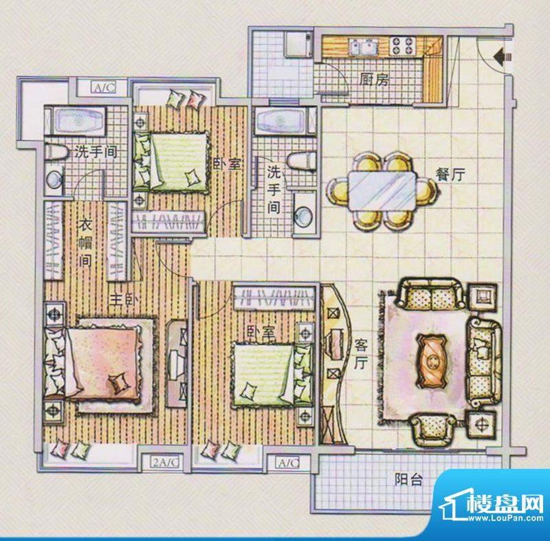 潭村改造项目H户型 面积:139.10平米