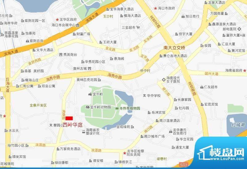 西岭华庭交通图