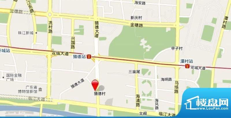 富景猎德村项目交通图