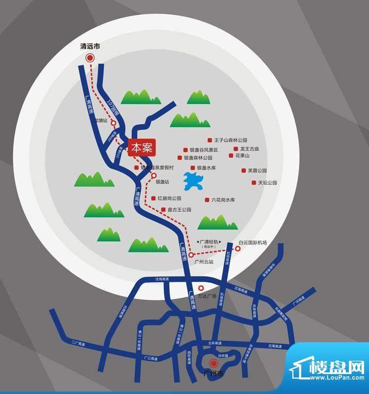阳光100米娅小镇交通图